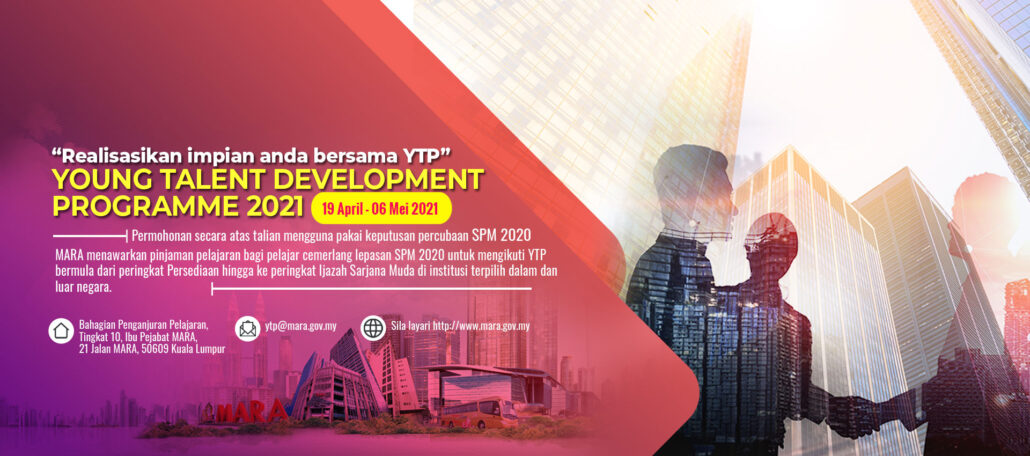 Biasiswa MARA – Program Pembangunan Bakat Muda (YTP)